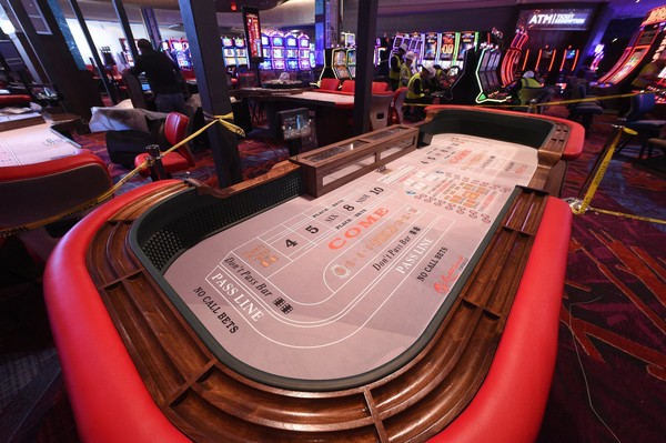 A gaming table in the casino.  Resorts World Catskill Casino in Sullivan County is scheduled to open February 8, 2018.