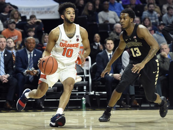 Syracuse guard Howard Washington will miss the rest of the season after suffering a knee injury in practice on Monday.