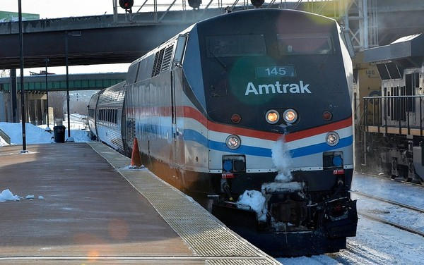 An Amtrak train arrives at the William F. Walsh Transportation Center in Syracuse. Gary Walts | gwalts@syracuse.com(Gary Walts | gwalts@syracuse.com | File photo, 2014)