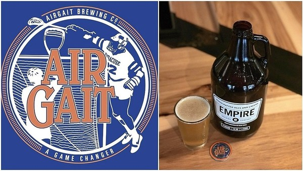 Lax Lager is a beer brewed for the Air Gait Brewing Co. by Syracuse's Empire Brewing Co.