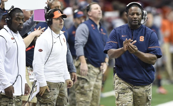 Syracuse football coach Dino Babers is shuffling up some of the responsibilities of his staff, with changes coming on both sides of the ball ahead of the 2018 season.