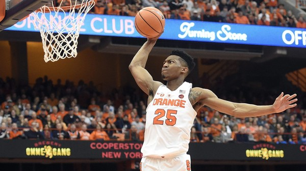 Syracuse guard Tyus  Battle soars in for a dunk in the Orange's game against Wake Forest on Sunday. Battle scored 34 points to lead the Orange to the victory.