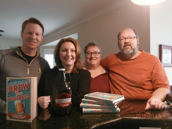 "Authors of ""Brew Your Business: The Ultimate Craft Beer Playbook,"" from left: M. Todd Luttrell, Regina Luttrell, Karen McGrath, and Sean McGrath."