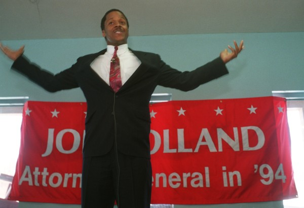 Joseph Holland visited Syracuse in March 1994 during an unsuccessful bid for the Republican nomination to run for New York Attorney General.