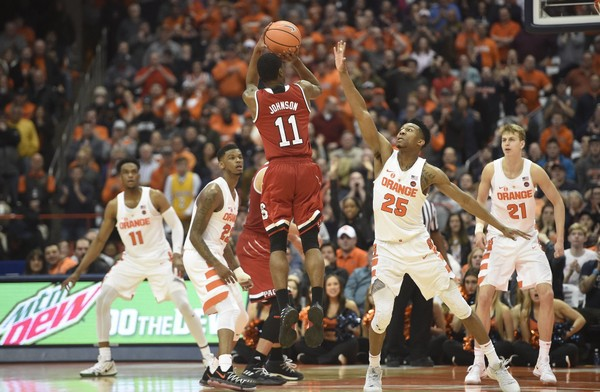 North Carolina State guard Markell Johnson (11) during a game against Syracuse on Wednesday, Feb. 14, 2018, at the Carrier Dome. Dennis Nett | dnett@syracuse.com