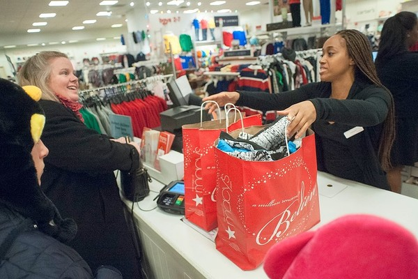 Shoppers at a Macy's location in Atlanta are seen in a file photo.