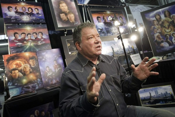 Actor William Shatner is interviewed at the Big Apple Comic Con in New York,  Friday, Oct. 16, 2009.