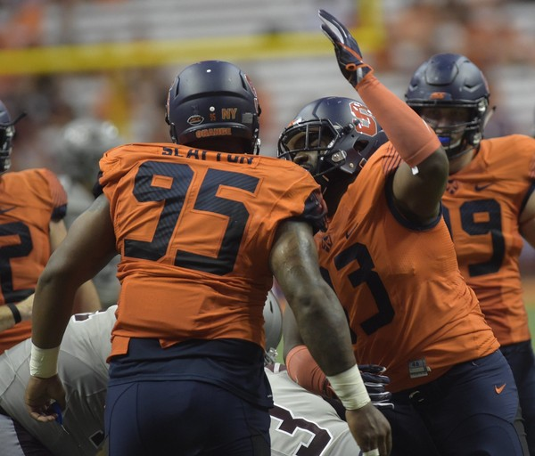 A video was published showing Syracuse football defensive lineman Chris Slayton squatting 700 pounds. That is the size of two gorillas, and, of course, a team best.