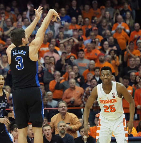 Suffocating defense lifts Duke men's basketball past Syracuse in Marvin Bagley's return