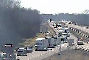 Eastbound traffic was detoured off the state Thruway at Pembroke Exit 48A on Monday after state police responded to an emotionally disturbed person driving erratically. Both lanes of I-90 were closed for about 12 miles for several hours during the incident Monday.