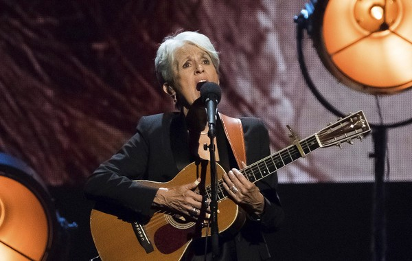 Inductee Joan Baez performs at the 2017 Rock & Roll Hall of Fame induction ceremony at the Barclays Center on Friday, April 7, 2017, in New York. (Charles Sykes | Invision | AP)