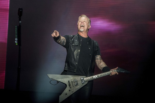 James Hetfield of Metallica performs at the 2017 Outside Lands Music Festival at Golden Gate Park on Saturday, Aug. 12, 2017, in San Francisco, Calif.