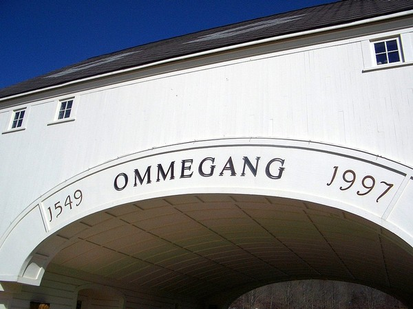The archway entrance at Brewery Ommegang, near Cooperstown.