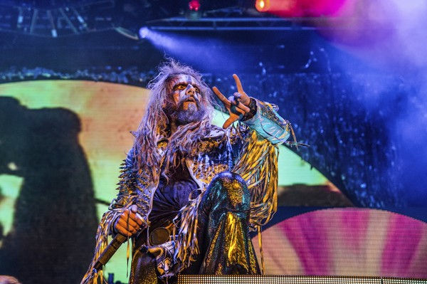Rob Zombie performs at the Louder Than Life Music Festival at Champions Park on Saturday, Sept. 30, 2017, in Louisville, Ky.