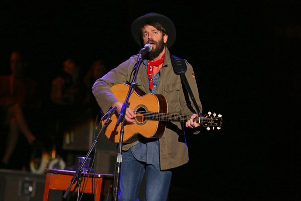 Ray Lamontagne performs at the Bridge School Benefit Concert at the Shoreline Amphitheatre on Saturday, Oct. 20, 2012, in Mountain View, California.