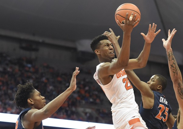 Syracuse guard Tyus  Battle (25) during a game against Virginia on Saturday, Feb. 3, 2018, at the Carrier Dome.
