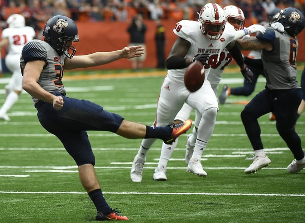 Syracuse football redshirt sophomore Sterling Hofrichter is expected to be the team's primary punter and placekicker this fall.(Stephen D. Cannerelli | scannerelli@syracuse.com)