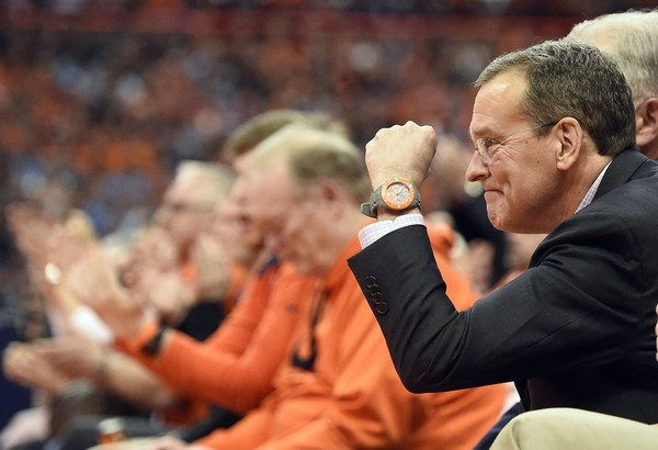 Syracuse athletic director John Wildhack discussed some of the most significant subjects regarding Syracuse Athletics and college basketball while in Omaha for the Sweet 16.(Dennis Nett | Syracuse.com)