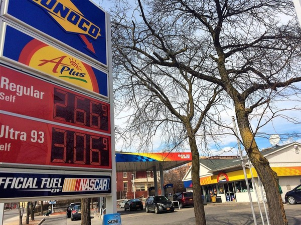 The Sunoco station at 200 N. State St. in Syracuse was selling regular gas for $2.66 a gallon on Monday.