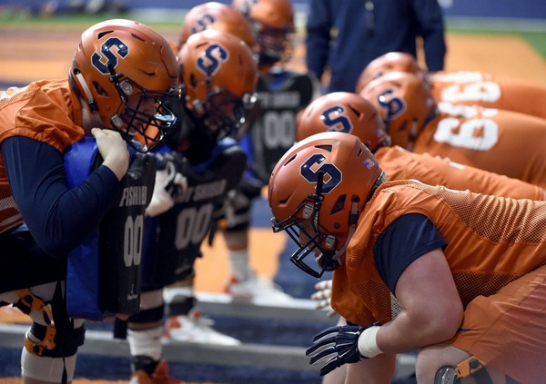 Syracuse football's offensive linemen believe this year's unit features improved experience and depth.