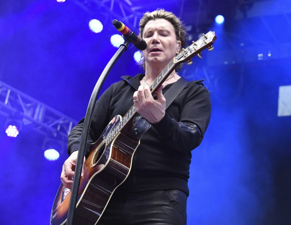 John Rzeznick of The Goo Goo Dolls performs at the Dolphins Cancer Challenge V111 on Saturday, Feb. 10, 2018 at Hard Rock Stadium in Miami Gardens, Fla.
