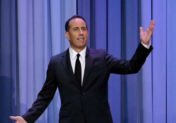 "Jerry Seinfeld visits ""The Tonight Show Starring Jimmy Fallon"" at Rockefeller Center on November 21, 2017 in New York City."