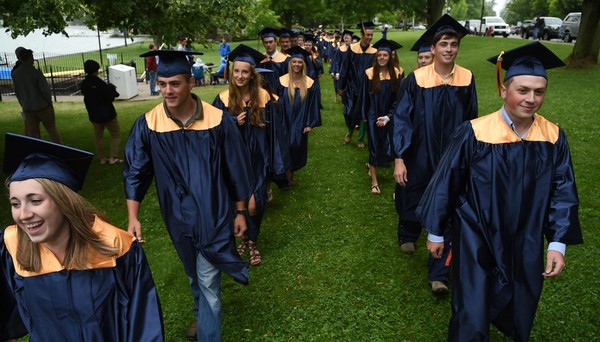 Skaneateles High School graduation in Skaneateles, N.Y., Sunday, June 28, 2015. Kevin Rivoli | krivoli@syracuse.com(Kevin Rivoli)