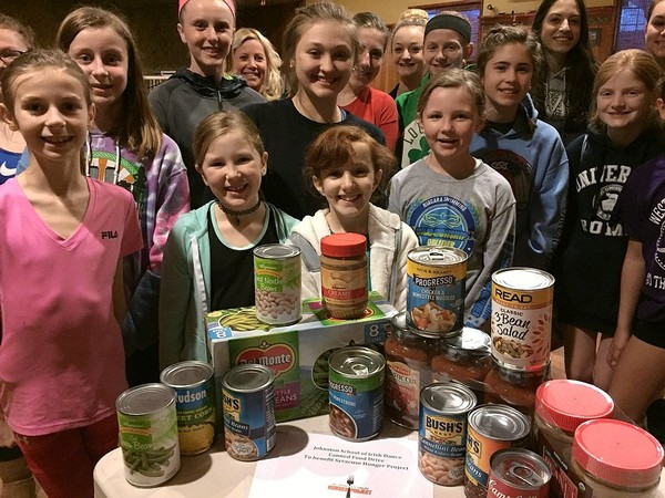Students at the Johnston School of Irish Dance, 550 Richmond Ave. in Syracuse. The school won a competition this year to see which Central New York Irish dance group can collect the most food for the St. Patrick's Hunger Project.
