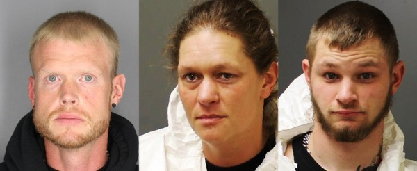 Victor G. Ehlers, 35, Angela L. Brouty, 39 and Corey D. Marolf, 21 (left to right).