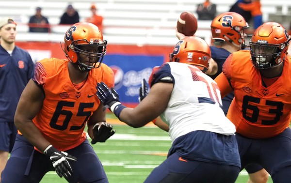 Former Syracuse football offensive tackle Jamar McGloster started every game during his last two collegiate seasons.