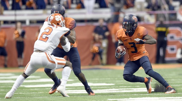 Syracuse football receiver Ervin Philips, the program's all-time leader in receptions, will sign an undrafted free agent contract with the Tampa Bay Buccaneers.