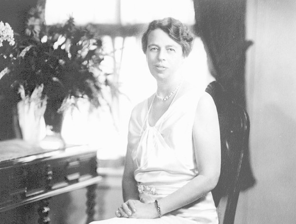First Lady Eleanor Roosevelt, taken just before her husband's inauguration in 1933. Two months later, she traveled with a friend through Upstate New York.