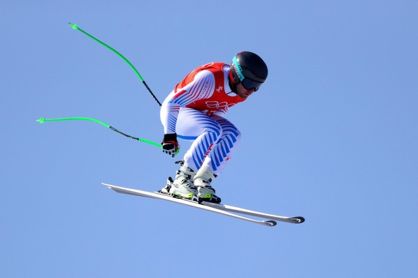 Andrew Weibrecht of the United States makes a run during the Men's Downhill Alpine Skiing training at Jeongseon Alpine Centre on February 8, 2018 in Pyeongchang-gun, South Korea. (Tom Pennington | Getty Images)