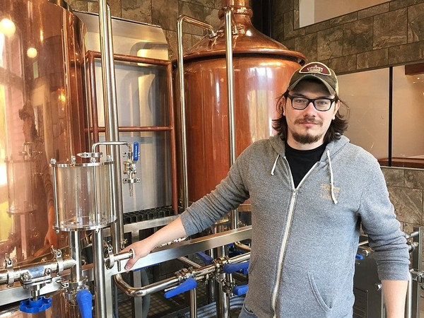 Micheal Coons, brewmaster at the Copper Turret Restaurant & Brewhouse in Morrisville, N.Y. The brewhouse is part of the new brewing science degree program at Morrisville State College.
