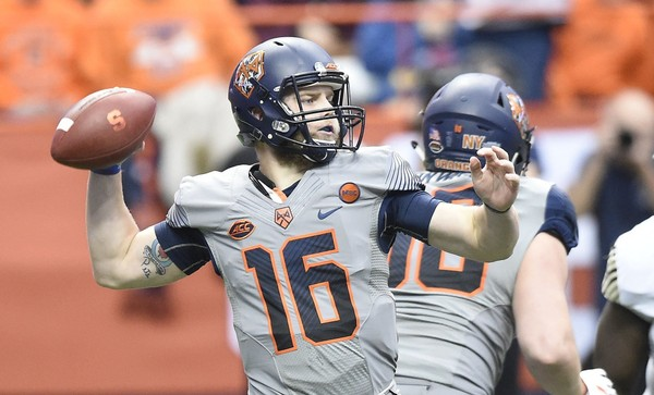Former Syracuse quarterback Zack Mahoney signed with the Winnipeg Blue Bombers.