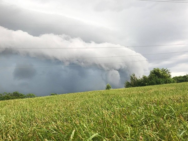 In this 2017 file photo, a thunderstorm rolls into Clay, in Onondaga County. Severe storms are possible Tuesday.