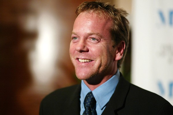File photo of actor Kiefer Sutherland greeting the media before The Museum of Television & Radio honors CBS New's Dan Rather at the Beverly Hills Hotel in Beverly Hills, Calif., Monday, Nov. 10, 2003.