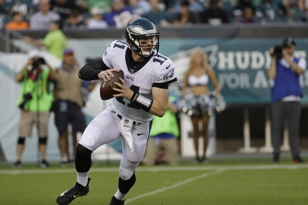 Philadelphia Eagles' Carson Wentz has been playing at an elite level this season. (AP Photo/Michael Perez)