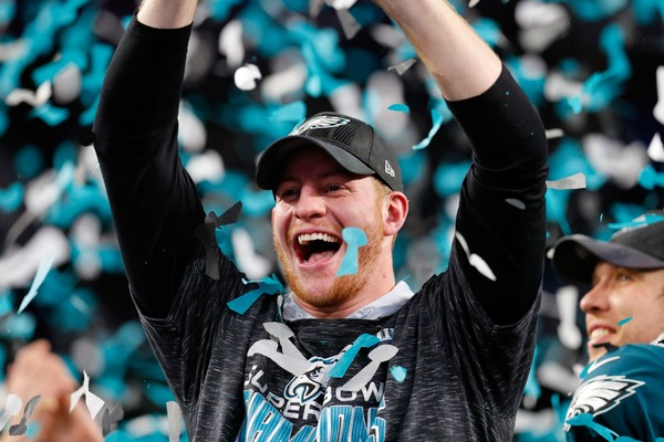Carson Wentz proposed to his girlfriend the day after the Super Bowl