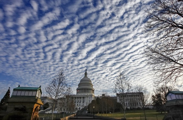 The Capitol is quiet as lawmakers finished legislative business for the year and passed a temporary spending bill to avoid a government shutdown, in Washington, Friday, Dec. 22, 2017.  (AP Photo/J. Scott Applewhite)