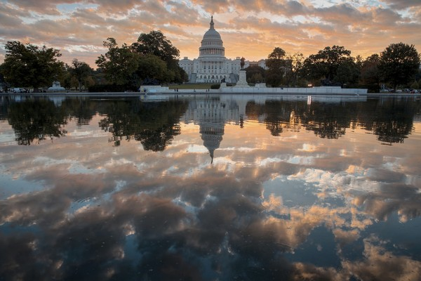 FILE - In this Oct. 10, 2017, file photo, the Capitol is seen at sunrise, in Washington.(AP Photo/J. Scott Applewhite, File)