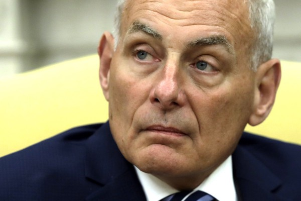 New White House Chief of Staff John Kelly after being privately sworn in during a ceremony in the Oval Office with President Donald Trump, Monday, July 31, 2017, in Washington. (AP Photo/Evan Vucci)