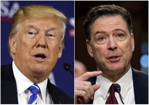 Former FBI director Comey likens Trump to a mafia boss