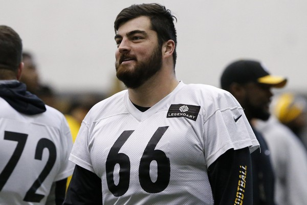 Steelers right guard David DeCastro won the 2017 Chief Award, given to the player who is most cooperative with local media. The award is voted on by local beat reporters.  DeCastro was voted to the Pro Bowl for the third straight season this year. (AP Photo/Gene J. Puskar)