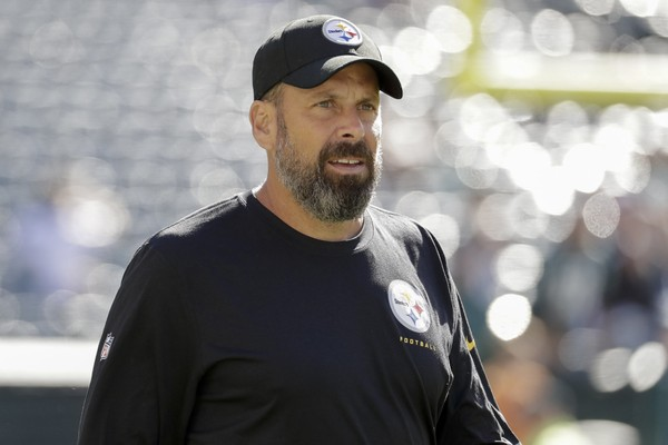 Former Steelers offensive coordinator reflected on his time in Pittsburgh publicly Wednesday for the first time as offensive coordinator of the Cleveland Browns. Here, Haley looks on prior to the Steelers' game against the Philadelphia Eagles, Sunday, Sept. 25, 2016, in Philadelphia. The Eagles won 34-3. (AP Photo/Chris Szagola)