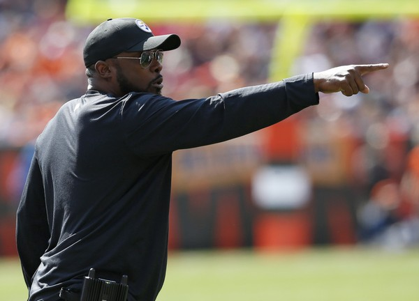 Steelers head coach Mike Tomlin scouted Virginia Tech's Pro Day along with general manage Kevin Colbert on Wednesday. Pittsburgh was also represented at Arizona State and Oklahoma Pro Days Wednesday. (AP Photo/Ron Schwane)