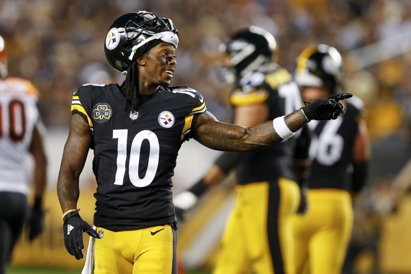 Steelers wide receiver Martavis Bryant will travel with the team for their game against the Detroit Lions that he's not playing in. (AP Photo/Keith Srakocic)