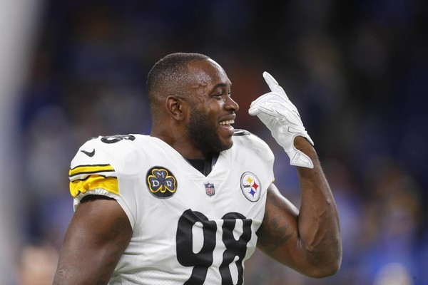 Steelers inside linebacker Vince Williams considered potential XFL nicknames on Twitter after Vince McMahon announced the 2020 relaunch of the league.  Here, Williams gestures during pregame of an NFL football game against the Detroit Lions, Sunday, Oct. 29 2017, in Detroit. (AP Photo/Paul Sancya)