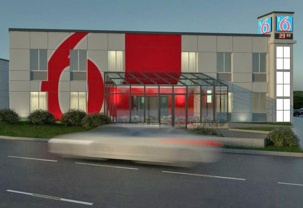In an ad for the sale of 540 Marshall St. in Phillipsburg, developer Joe Clark suggests a Motel 6 would look like this on the property.