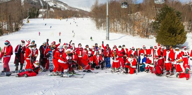 Whiteface Mt.: 480-plus Adirondack skiers, riders dress as Santa and Mrs. Claus